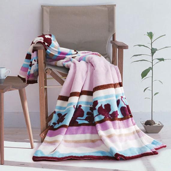 罗莱花开绚烂珊瑚绒毯