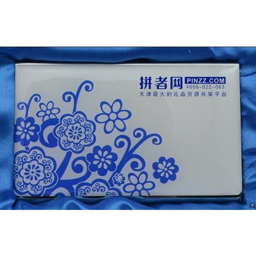 青花瓷名片盒,必威官方首页名片盒betway必威集团 可印企业标志