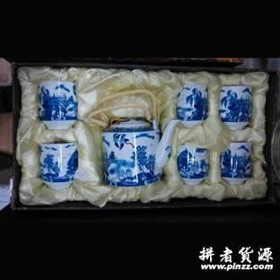 青花瓷茶具礼盒套装 必威官方首页商务必威体育官网betway首选