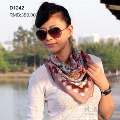 D1242  真丝方巾