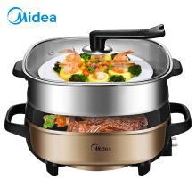 美的(Midea)多用途锅家用电火锅 6L大容量 可煎烤 MC-LHN30C1盒